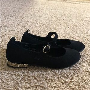 Gap black suede with gold sparkled shoes size 4